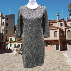 Sweater Dress 3/4 Sleeve Pullover Stretch MP NWT